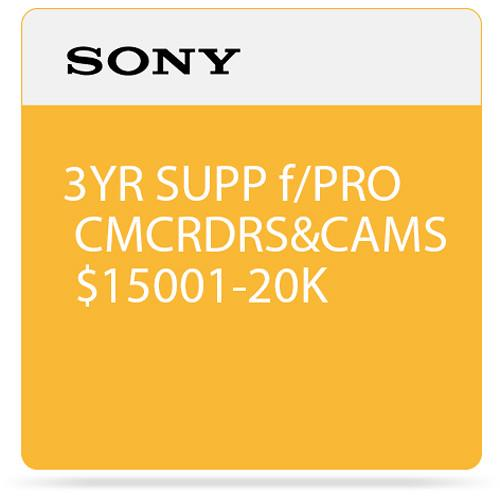 Sony 3-Year SupportNET Depot Service Plan for Cameras SPSCC6DP3