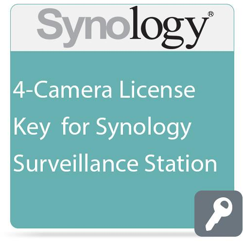 Synology 4-Camera License Key for Synology Surveillance CLP4