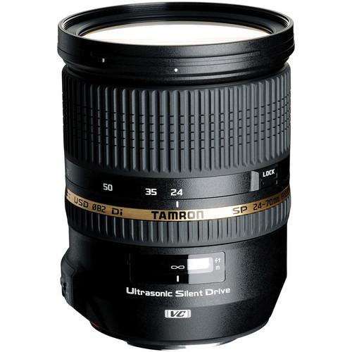 Tamron SP 24-70mm f/2.8 Di VC USD Lens and Filter Kit for Canon