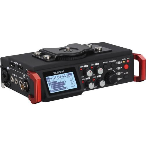 Tascam DR-701D 6-Track Field Recorder for DSLR & Bag Kit