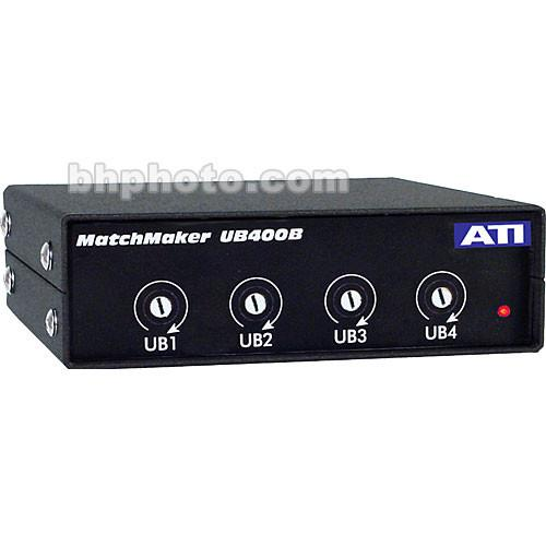 ATI Audio Inc UB-400B - 4-Channel Uni-directional Level UB400B
