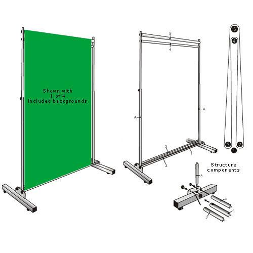 Botero 5x7' Rotary Background Support System 1000