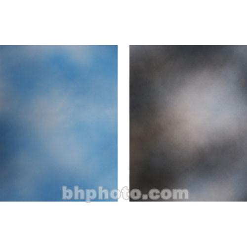 Botero 816 Double Sided Muslin 10x24' - Sky Blue/Dark, M8161024
