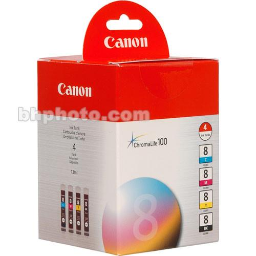 Canon  CLI-8 Ink Tank 4-Pack 0620B010
