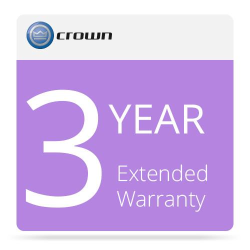 Crown Audio 3-Year Extended Warranty for Amplifiers K1113-8