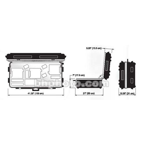 Dedolight DCHD3X6 Heavy Duty Transport Case DCHD3X6