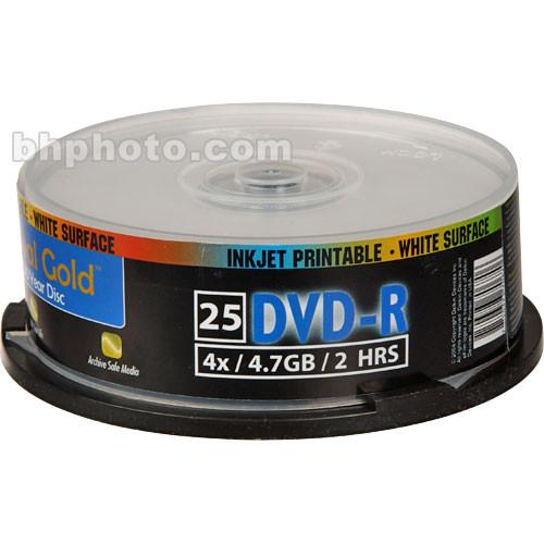 Delkin Devices AG DVD-R 4.7GB, 8x, Inkjet DDVD-R-I/25 SPIN 8X