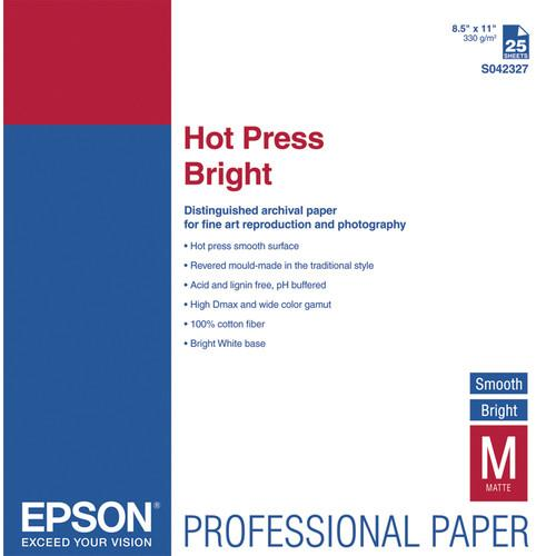 Epson Hot Press Bright Smooth Matte Paper S042327