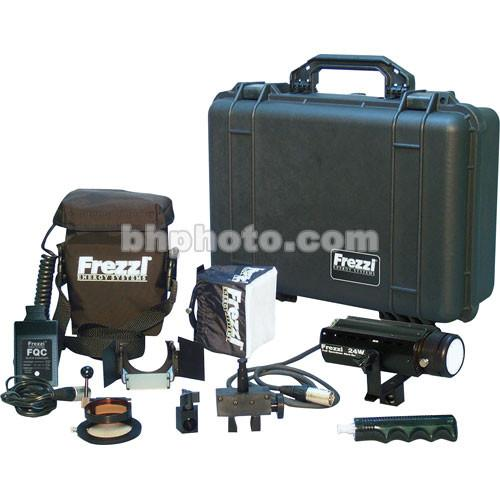 Frezzi MAK24-4Q 24-watt AC/DC Mini-Sun Gun HMI Light Kit 92428