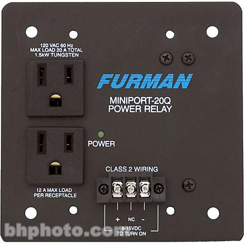 Furman  Miniport 20Q Power Relay Outlet MP-20Q