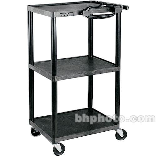 HamiltonBuhl A/V Cart, Polyethylene, Adjustable 16, 26, PC1642E