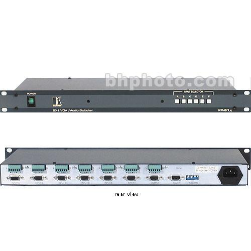 Kramer CVG-VP61 Switcher, 6x1, VGA / XGA Video, Stereo VP-61XL