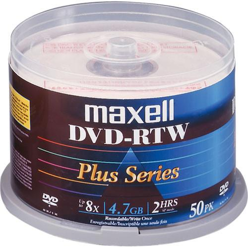 Maxell DVD-RTW 4.7GB Thermal/Hub Printable 8x Disc (50) 635079