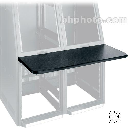 Middle Atlantic Console Work Surface Left (Black) WS2-S18-GBL