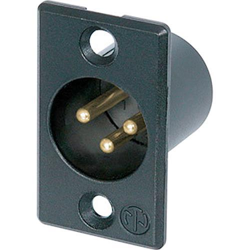 Neutrik 3 Pole Male Receptacle - Gold Solder Contacts NC3MP-B