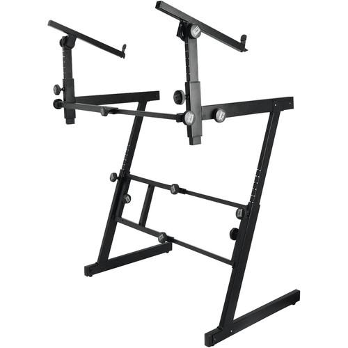 On-Stage KS7365EJ Folding-Z Two-Tier Keyboard Stand KS7365-EJ