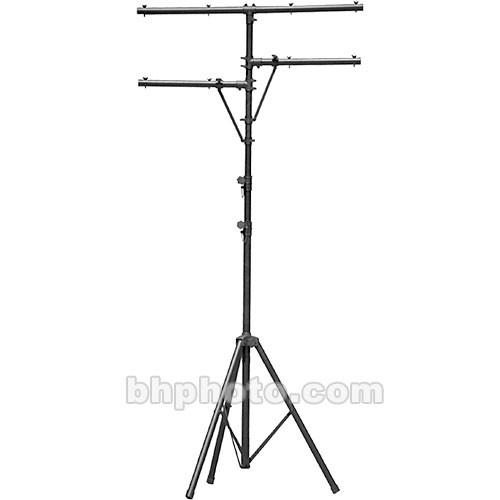 On-Stage Lighting Stand with Side Bars (Black, 10.5') LS7720BLT
