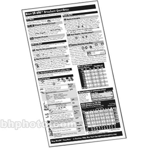 PhotoBert CheatSheet for Canon Speedlight 430EX LB63-05