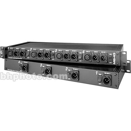 Pro Co Sound MS-43A - Four-Channel, Three-Way Mic Splitter MS43A