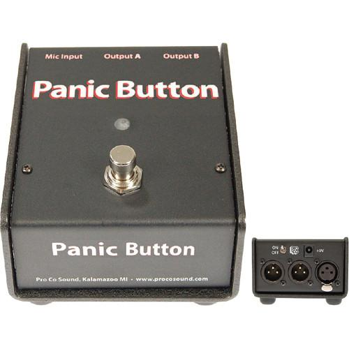 Pro Co Sound Panic Button - Live Sound A/B or Muting Switch CDPB