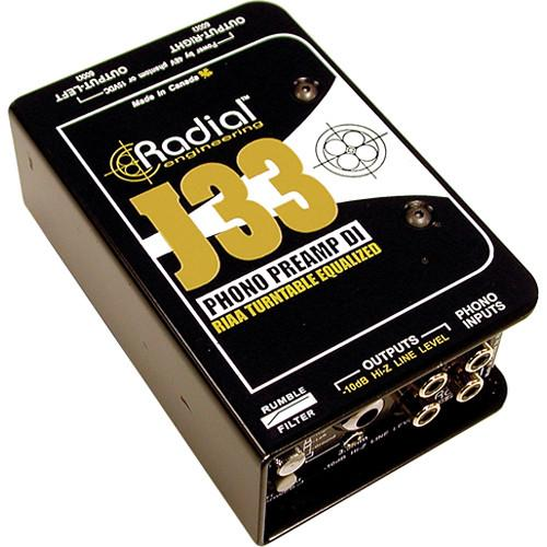 Radial Engineering J33 Turntable Preamp and Direct Box R800 1300