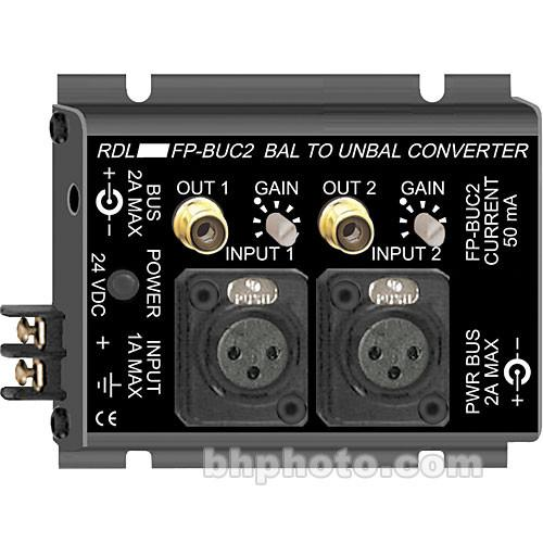 RDL  2-Channel Bal to Unbal Converter FP-BUC2