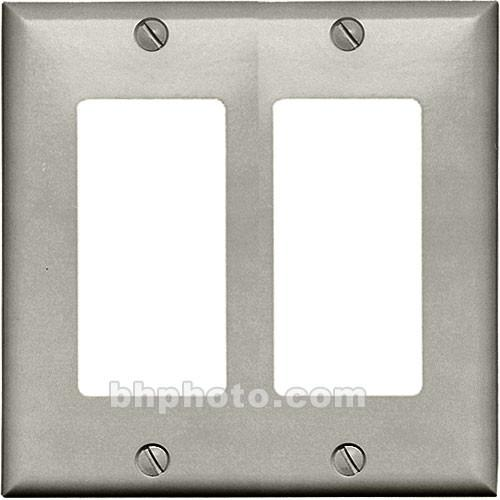 RDL CP-2G Double (Side-by-Side) Cover Wall Plate (Gray) CP-2G