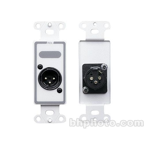 RDL D-XLR3M Decora Wall Plate with XLR 3-Pin Male D-XLR3M