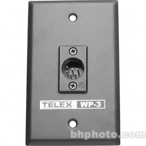 Telex WP-3 - 2-Channel Wall Plate with 6-Pin XLR F.01U.118.899