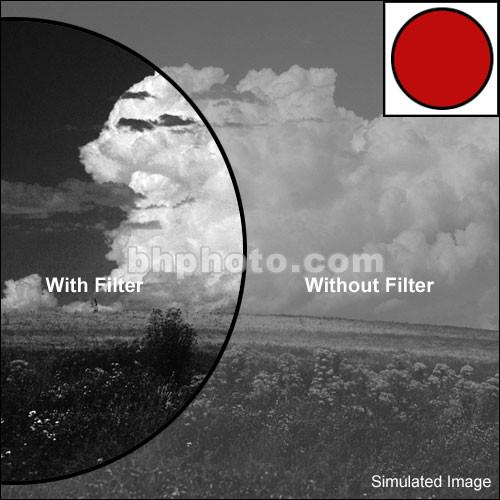 Tiffen 127mm Dark Red #29 Glass Filter for Black & 127R29
