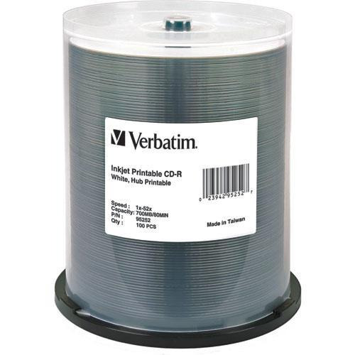 Verbatim CD-R White Hub Printable Disc (100) 95252