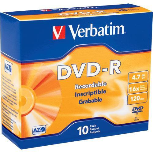Verbatim DVD-R 4.7GB 16X Azo Surface with Slim Case 95099