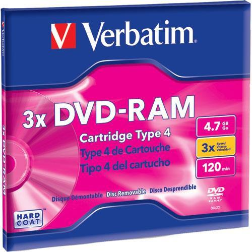Verbatim  DVD-RAM Disc in Type 4 Cartridge 95002