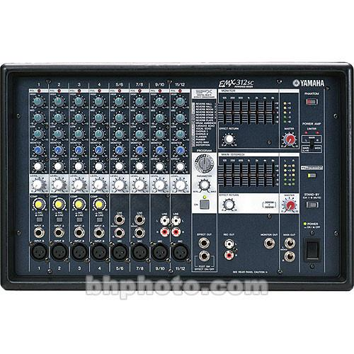 Yamaha  EMX-312S Stereo Powered Mixer EMX312SC