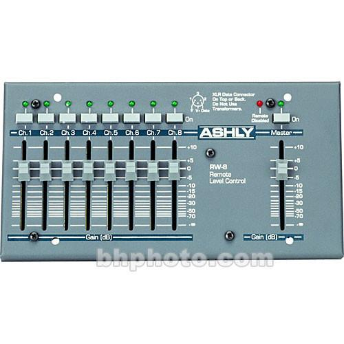 Ashly RW-8C - 8-Channel Wall-Mount Remote Control RW-8C