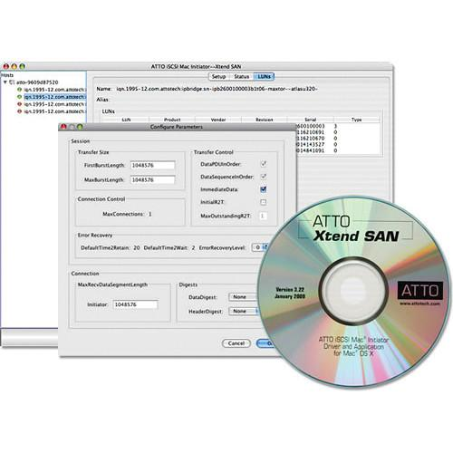 ATTO Technology Xtend SAN iSCSI Initiator Software INIT-MAC0-005