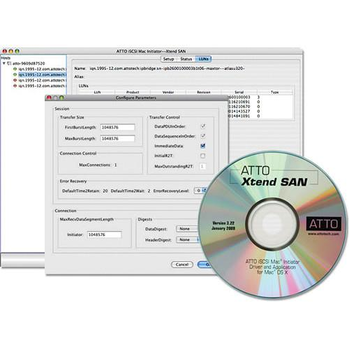 ATTO Technology Xtend SAN iSCSI Initiator Software INIT-MAC0-025