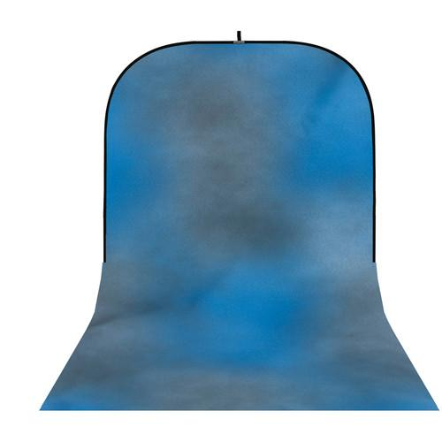 Botero #004 Super Collapsible Background (8x16', Blue, Grey)