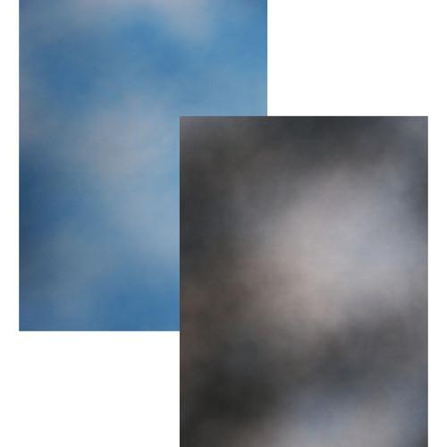 Botero 816 Double Sided Muslin 10x12' - Sky Blue/Dark, Medium