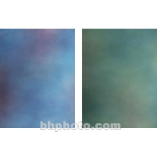Botero 817 Double Sided Muslin 10x24' - Blue, Magenta/Sea Green