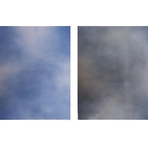 Botero 818 Double Sided Muslin 10x24' - Sky, Dark Blue/Grey,