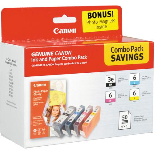 Canon BCI-3e6 Multipack with GP502 Photo Paper 4479A292