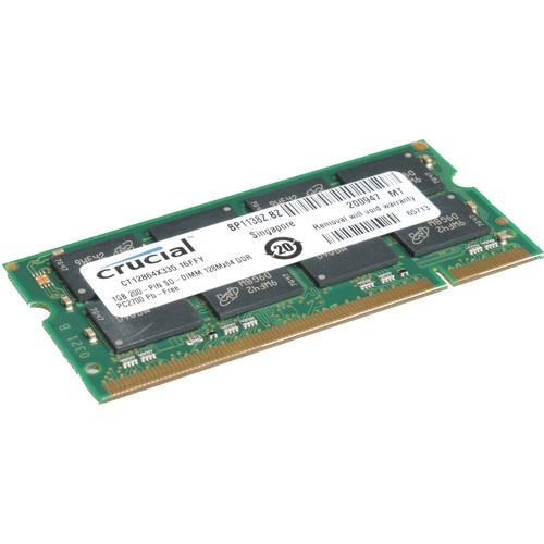 Crucial 1GB SO-DIMM Memory for Notebook CT12864X335