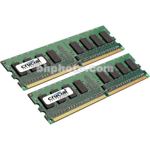 Crucial 2GB (2x1GB) DIMM Desktop Memory Upgrade CT2KIT12864AA667