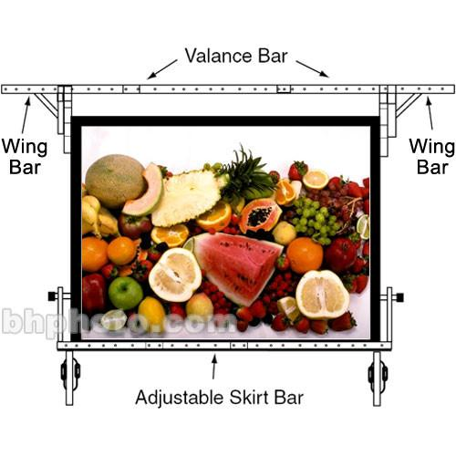 Da-Lite Adjustable Skirt Bar for 69 x 120