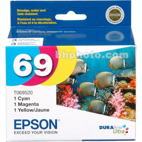 Epson 69 DURABrite Ultra 3-Color Ink Cartridge Pack T069520