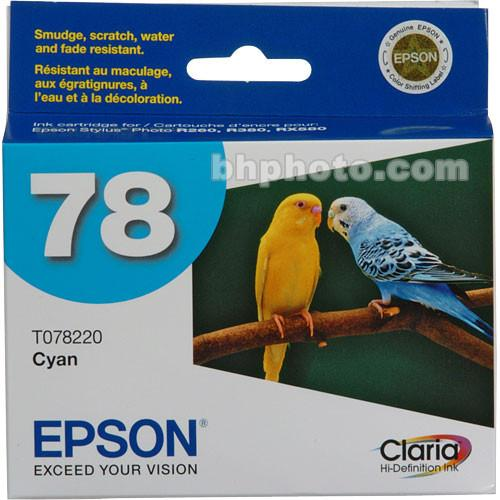 Epson 78 Claria Hi-Definition Cyan Ink Cartridge T078220