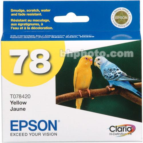 Epson 78 Claria Hi-Definition Yellow Ink Cartridge T078420