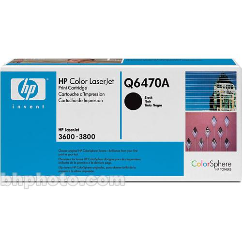 HP  LaserJet Q6470A Black Print Cartridge Q6470A