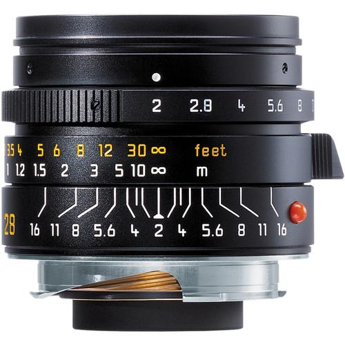 Leica Summicron-M 28mm f/2.0 Lens (6-Bit, Manual Focus) 11604